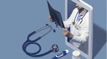 Ilustrasi pengobatan digital alias telemedis (telemedicine) / Shutterstock\n