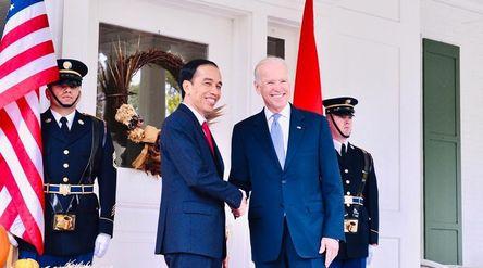 Presiden Joko Widodo dan Presiden AS terpilih Joe Biden / Facebook @Jokowi\n