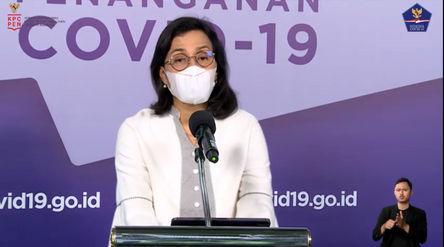 Menteri Keuangan, Sri Mulyani Indrawati dalam konferensi persi virtual, Senin, 30 November 2020/ Sum...