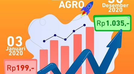 Ilustrasi pergerakan saham BRI Agro / Facebook BRI Agro\n