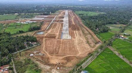 Progres pembangunan Bandara Jenderal Besar Soedirman Purbalingga / Foto: Facebook @purwokerto.galler...