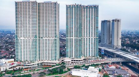 Superblock Grand Kamala Lagoon yang berisi residensial, apartemen, mall, dan perkantoran, milik PT P...