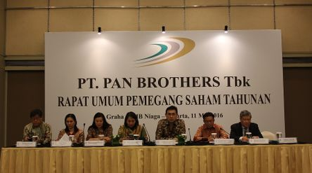 Emiten tekstil dan garmen PT Pan Brothers Tbk (PBRX) / Dok. Perseroan\n