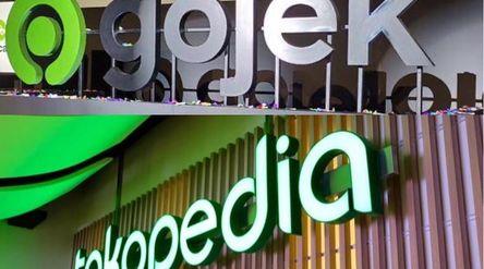 Ilustrasi merger Gojek dan Tokopedia / Repro\n