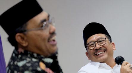 Wakil Menteri Agama RI, Zainut Tauhid Sa'adi (kanan) bersama Wakil Ketua MPR RI, Jazilul Fawai...