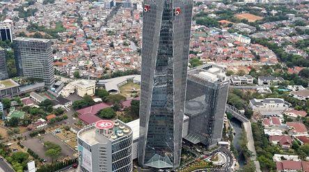 Gedung Merah Putih milik PT Telkom Indonesia (Persero) Tbk (TLKM) / Dok. Kementerian BUMN\n