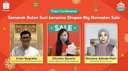 Konferensi pers Big Ramadan Sale Shopee Indonesia / Tangkapan Layar\n