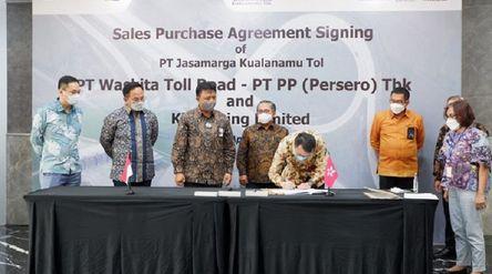 Penandatanganan penjualan saham Tol Medan-Kualanamu / Dok. Waskita Karya\n