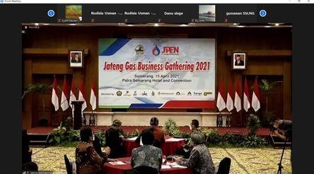 Penandatanganan MoU antara PT Perusahaan Gas Negara Tbk dengan PT Jateng Petro Energi secara virtual...