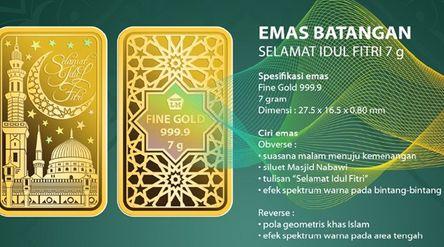Dalam rangka menyambut Ramadan, PT Aneka Tambang Tbk (ANTM) meluncurkan produk logam mulia bertema I...