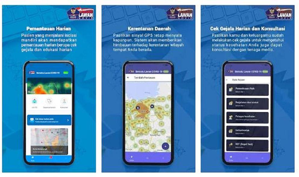 Aplikasi Bersatu Lawan Covid bisa dunduh di Play Store dan App Store. / Play Store\n