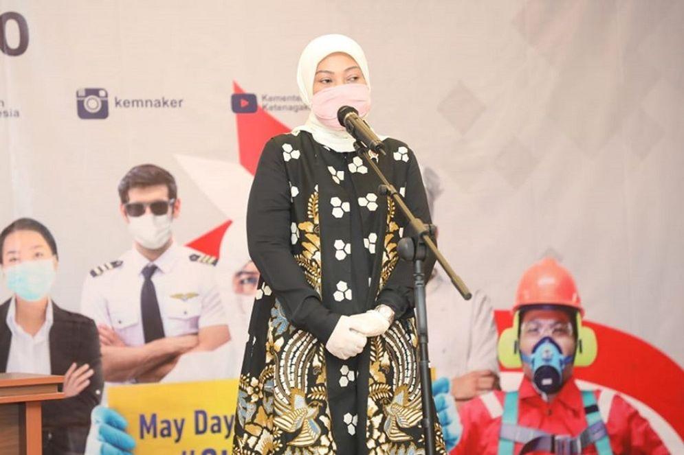Menteri Ketenagakerjaan Ida Fauziyah. /  Facebook @KemnakerRI\n