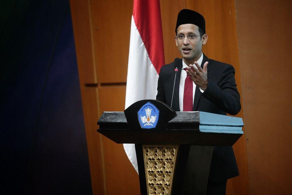 Menteri Pendidikan dan Kebudayaan Nadiem Anwar Makarim. / Sahabatkeluarga.kemdikbud.go.id\n