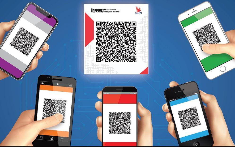 Quick Response Code Indonesian Standard atau biasa disingkat QRIS (dibaca KRIS) adalah penyatuan berbagai macam QR dari berbagai Penyelenggara Jasa Sistem Pembayaran (PJSP) menggunakan QR Code. / Bi.go.id\n