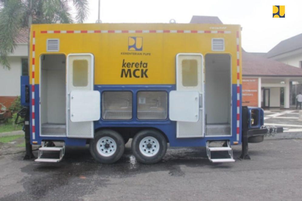 Fasilitas kereta MCK. / Dok. Kementerian PUPR\n