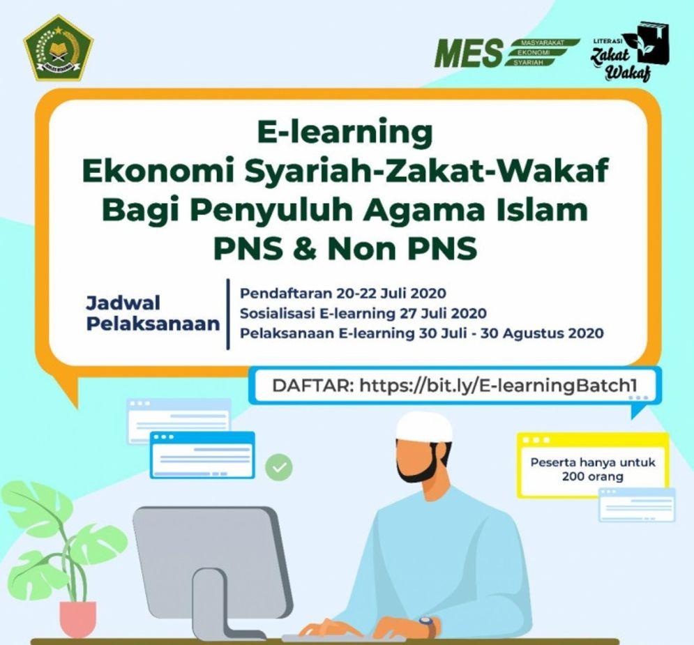Banner E-learning Zakat dan Wakaf/ kemenag\n