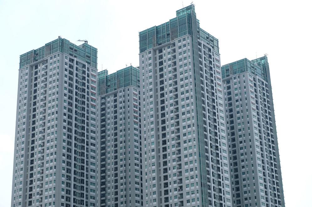 Suasana bangunan apartemen di kawasan Jakarta Pusat/ Foto: Ismail Pohan/TrenAsia\n