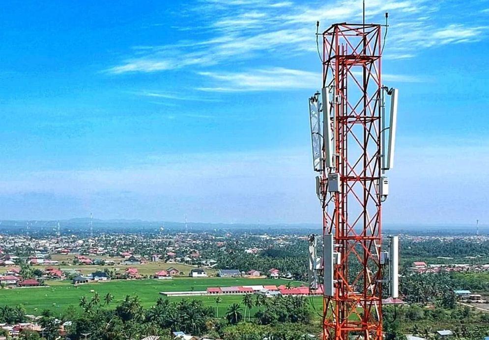 Ilustrasi menara Base Transceiver Station (BTS) PT Dayamitra Telekomunikasi (Mitratel) / Facebook @Mitratel\n