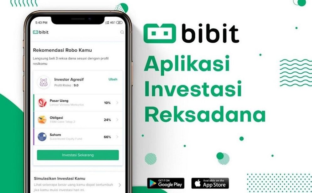 Start up investasi reksa dana Bibit / Bibit.id\n