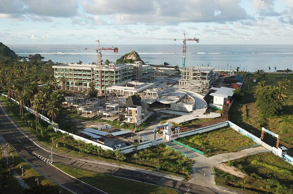 Pembangunan Hotel Pullman Mandalika, Lombok, Nusa Tenggara Barat / ITDC.co.id\n