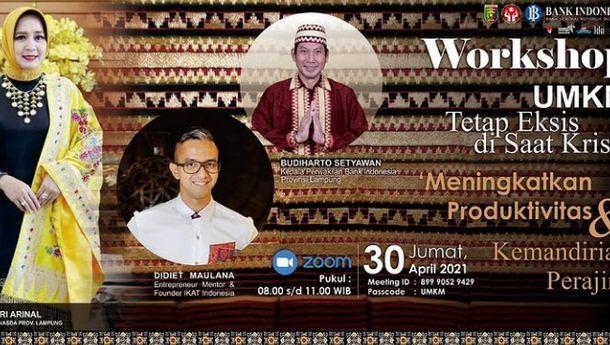 Gandeng Didiet Maulana, Pemprov, Dekranasda dan BI Tingkatkan Produktivitas UMKM