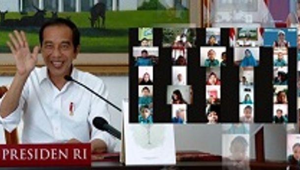 """""""Tetap Semangat Belajar Meski Tidak di Sekolah"""", Begitu Pesan Presiden Jokowi pada Hari Anak Nasional 2021"""