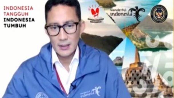 "Menteri Sandiaga: ""Percepat Penyaluran Dana Bantuan Bagi Pelaku Parekraf dan Sukseskan Program Vaksinasi 2 Juta Per Hari"""