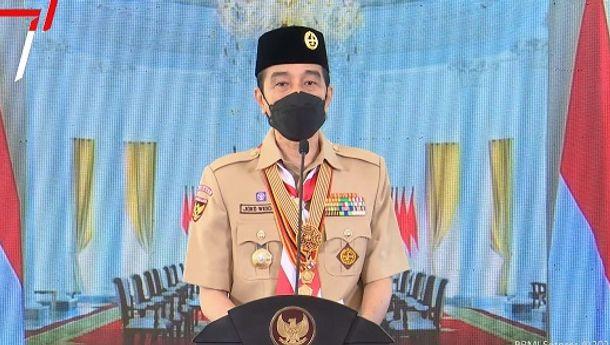 Presiden Jokowi: Pramuka Indonesia Harus Jadi Pelopor Kedisiplinan Terapkan Prokes