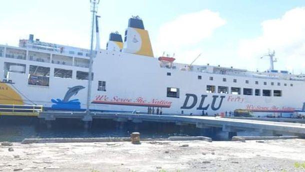 Kapal Ro-Rro Dharma RuCitra 1 Uji Coba Sandar di Pelabuhan Lorens Say