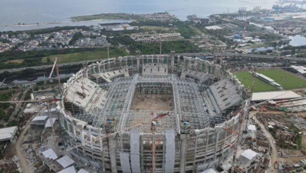Pembangunan JIS atau Stadion Kita Mencapai 68,95 Persen