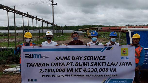 Layanan Sehari Nyala PLN Dongkrak Ekonomi Lampung