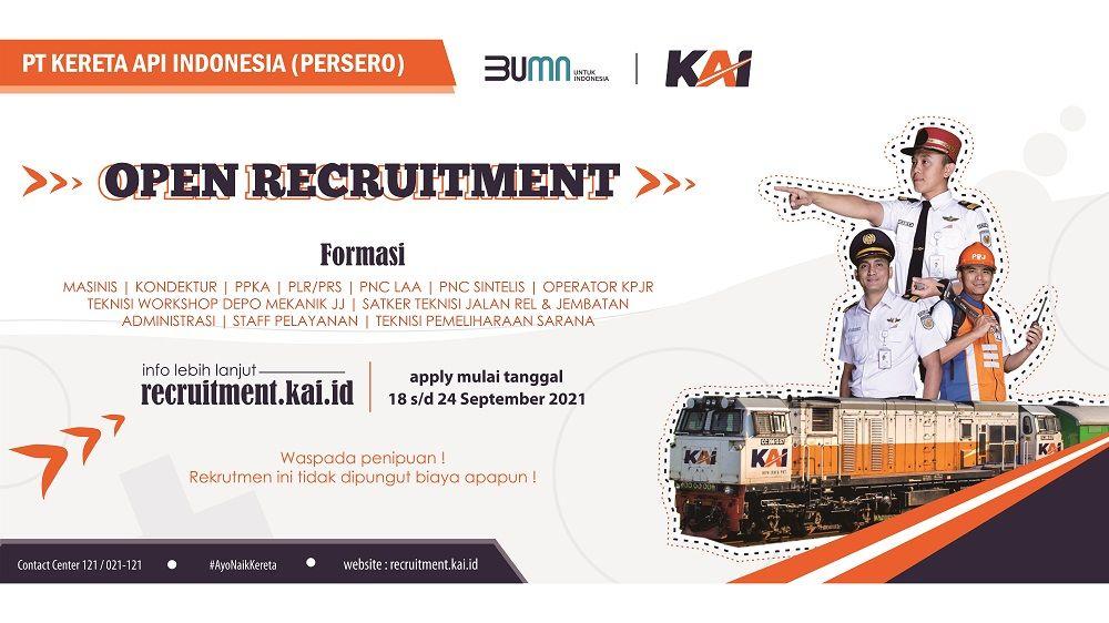 Buruan Daftar! Lowongan Kerja BUMN PT Kereta Api Indonesia (Persero), Berakhir 24 September 2021