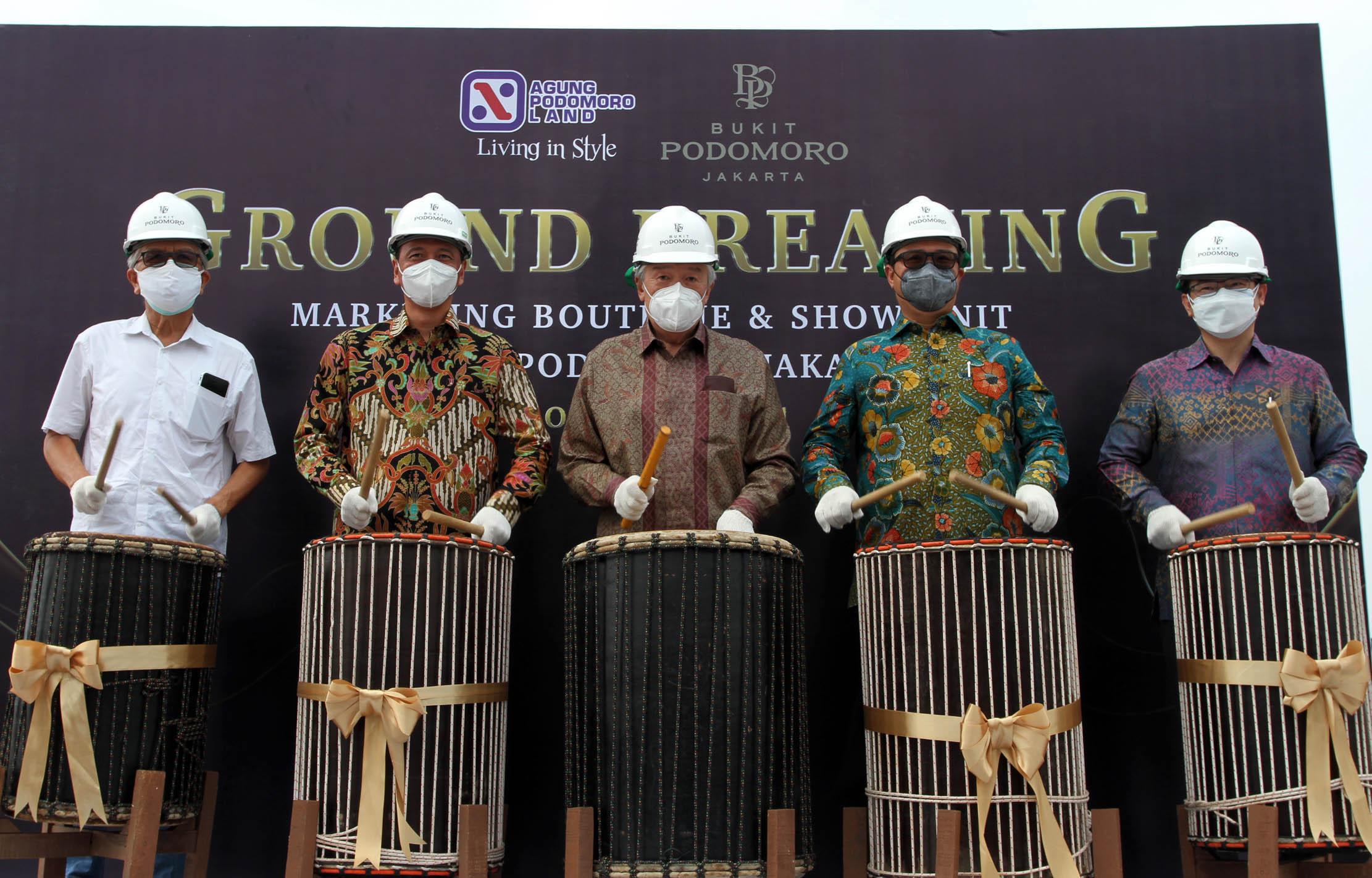 Perkuat Komitmen Bangkitkan Sektor Properti Indonesia, Agung Podomoro Land Lakukan Ground Breaking Marketing Boutique Bukit Podomoro Jakarta