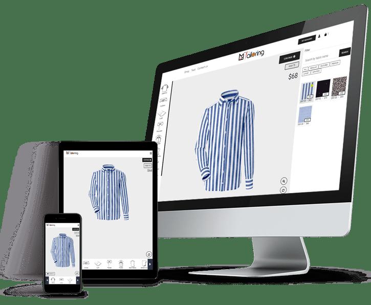 Mi Tailoring Desktop, Mobile and Tab View to Satisfy Customers