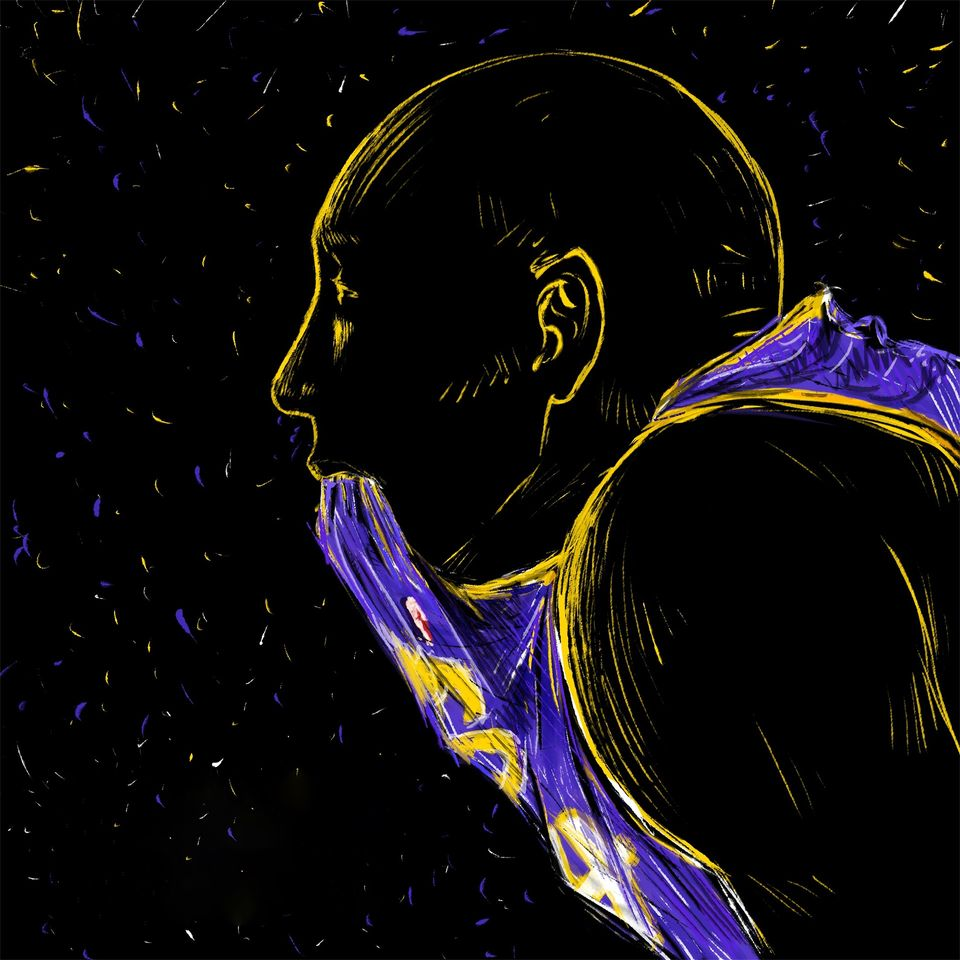Dessin de Kobe Bryant par ???? Cdd20 de Pixabay - CC0<br>