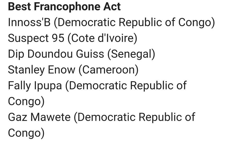 Nominees for