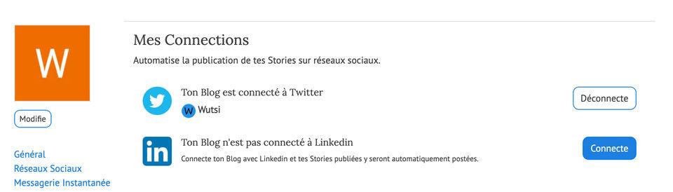 Configuration de LinkedIn