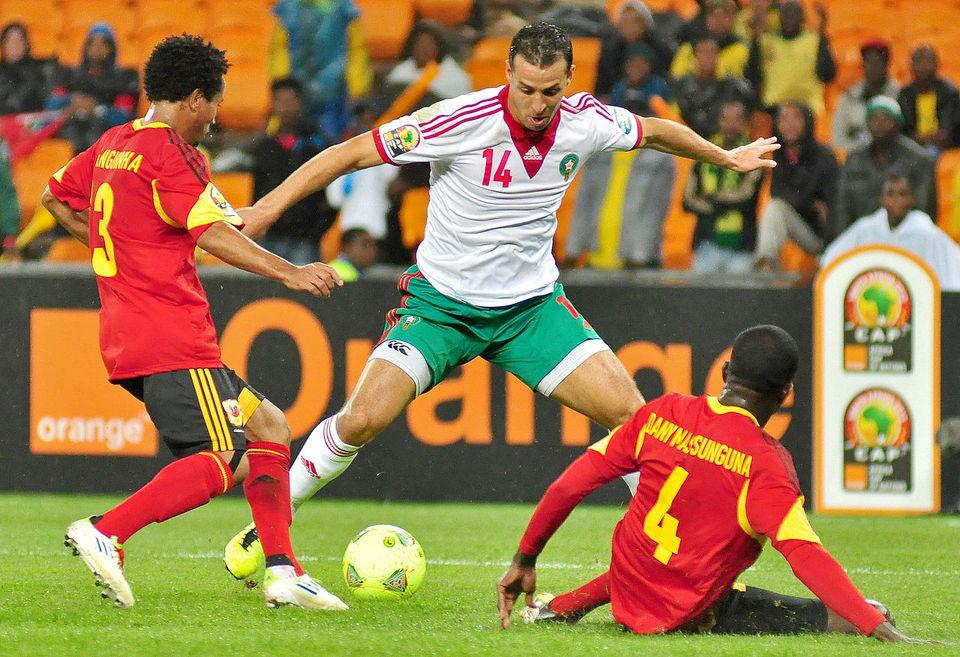 El Hamdaoui (marocain en blanc) contre l