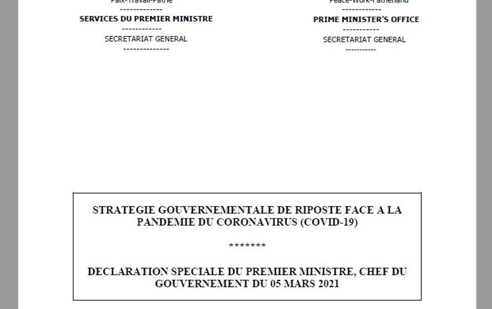 Covid-19 : Dion Ngute relance les mesures barrières au Cameroun