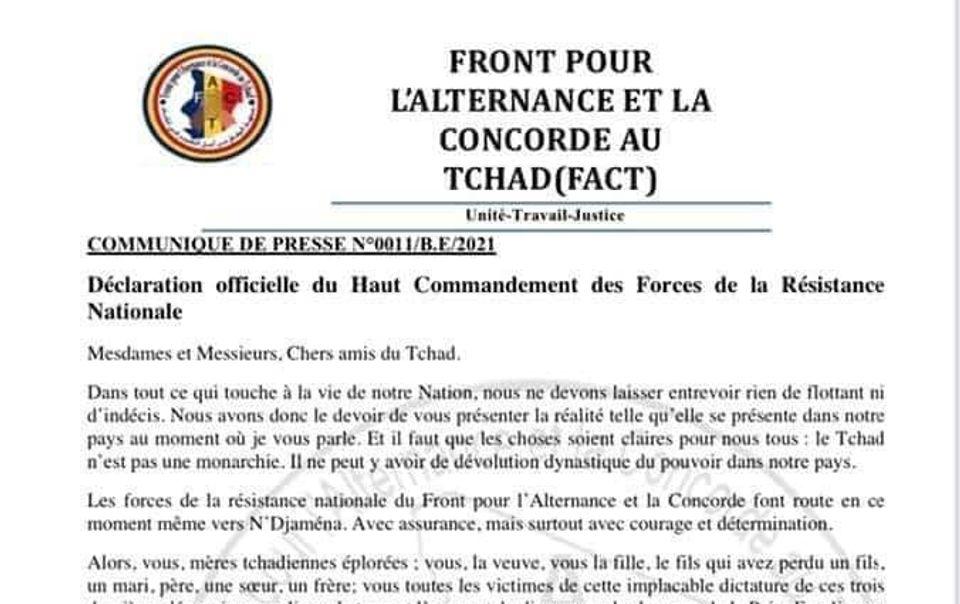 """Tchad : """"Le Tchad n'est pas une monarchie"""" (FACT)"""
