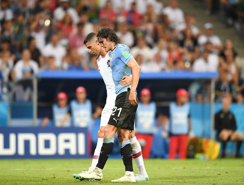 Ronaldo et Cavani par Anna Nessie (Soccer.ru) - Wikipédia CC BY-SA 3.0