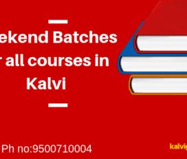 Weekend Batches Kalvi