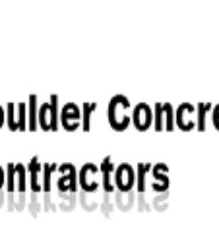 Boulder Concrete Contractors