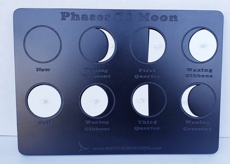 Phases of the Moon puzzle – Montessori Wooden Moon Cycle Lunar Phases