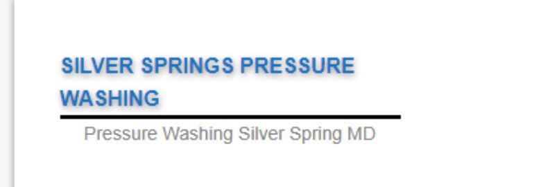 Silver Springs Pressure Washing
