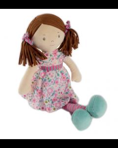 Katy Doll - Dark Brown Hair and Pink Sea Green Dress