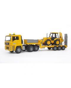 Bruder - MAN TGA Low Loader Truck with JCB Backhoe Loader