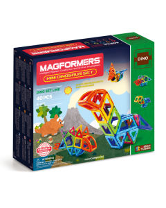 Magformers Mini Dinosaur Set - 40 Pieces