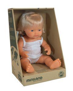 Miniland Doll Caucasian Girl 38 cm
