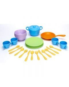 Green Toys - Recycled Plastic Cookware and Dining Set - 26 pieces